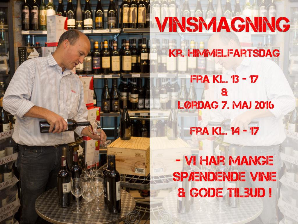 Vinsmagning i Spar Supermarked i Rørvig - i efterårsferien